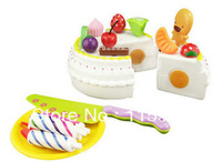 baby kids Pretend Play Kitchen Toys cup cake restaurant birthday cake high tea children play house toys cut toy free shipping