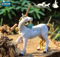 Papo model toys magic gold belt bow unicorn