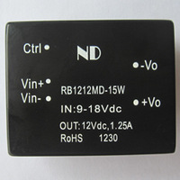 dc dc converters 12V to 12V 15W wide input Single output Isolated dc-dc power supply modules