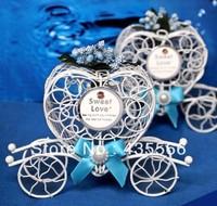 Blue Iron Carriage Wedding Favour Box Sweet Box Chocolate Box