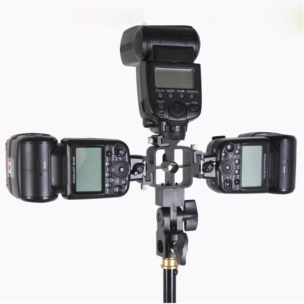 3 Tri Flash Hot Shoe Mounting Bracket Holder Adapter Speed light Speedlite for Nikon Canon Pentax Olympus Metz Nissin Sigma(China (Mainland))