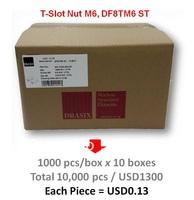 10000pcs T-Slot Nut M6 for Aluminium Profile, DBASIX Fastener DF8TM6ST