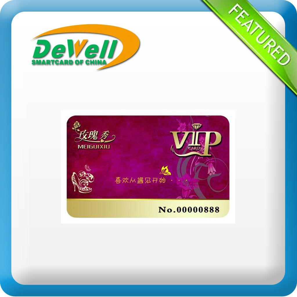 4 color printing membership cards manufacturer or VIP PET ABS PVC material vip card(China (Mainland))