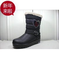 Boots quinquagenarian soft outsole casual thermal thickening comfortable snow boots cotton-padded shoes