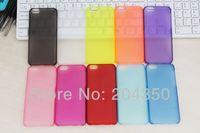 For Iphone 5C 0.5mm Ultra-thin Matte Hard Plastic Case via DHL 200pcs/lot