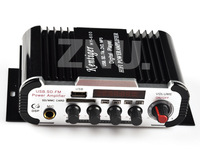FM Audio +MIC + MP3 Speaker HiFi Mini Amplifier AMP Suit For Car Motorcycle Home Microphone Jack