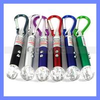RGB Colorful Laser Light Mini Keychain LED Flashlight 3 in 1 Ball Laser Pointer