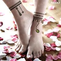 $2 temporary tattoo  emerald jewelry  anklets gem  waterproof women  tattoos stickers body art tattoo sticker