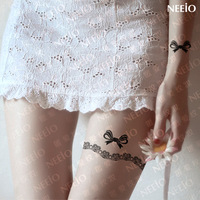 $2 temporary tattoo  exquisite lace decoration bow  the leg  waterproof   tattoos stickers body art tattoo sticker