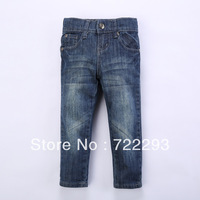 Free Shipping (1 Piece Only) Cotton Solid 2-5 Years Old Kids boys Straight and Mid Soft Jeans
