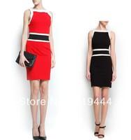 new arrival Fashion elegant stylish sexy OL dress casual sleeveless hip pack slim fit party evening brand designer dress