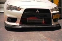 09 Mitsubishi Evo 10 EVO X  Ralliart Style Carbon Fiber Front Lips  Front Splitter