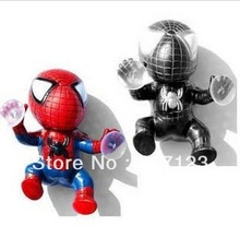 (10 pieces/lot ) wholesale Red / Black Spider Man Suction Cup Doll Auto Car Decoration (China (Mainland))