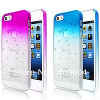 5 pcs Bubbles Gradient Color Transparent Back Cover Case for iPhone 5 5S (Assorted Color)
