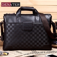 Denater men's handbag shoulder bag male commercial document laptop bag