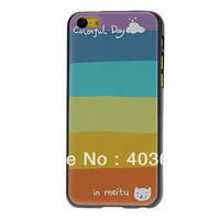 Free Shipping Fresh Designed Colorful Lump Pattern Hard Case for iPhone 5C