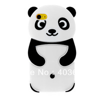Free Shipping 3D Panda Designed Silicone Soft Back Cover Case for iPhone 5C
