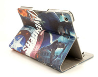 Brand Cartoon Avenger Hero Captain America Flip Stand Full Leather Cases Smart Cover For Apple Ipad Mini Protector 07211