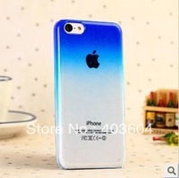 Free Shipping Bubbles Gradient Color Transparent Back Cover Case for iPhone 5C (Assorted Color)