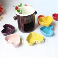 2014 colorful chocolate fondue fruit plate ice cream pot mandarin duck double layer cheese fondue