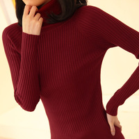 Autumn new arrival women's medium-long slim elastic sweater basic shirt sweater female