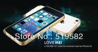NEWEST Original LoveMei  ultra-thin 0.7mm METAL  Aluminum Bumper For iphone 5C BUMPER With Retail Packaging