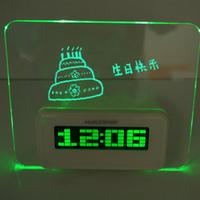 Led massage clock,latest flashing led writing board alarm clock