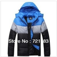 Nems men's warm with thick cotton-padded clothes coat Men's down jacket