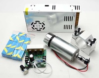 CNC 0.4KW Spindle Motor +Mach3 PWM controller + Mount+Power supply+ ER11 collet