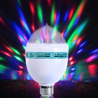 1PC New Popular Magic Ball Rotating Party Disco DJ RGB LED Stage Lighting Bulb, Free Shipping