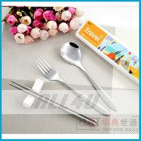 Portable tableware chopsticks spoon stainless steel cutlery set travel tableware