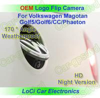 VW logo flip back up reversing CCD Badge camera oem rear view camera for VW logo auto flip Emblem Magotan/Golf5/Golf6/CC/Phaeton