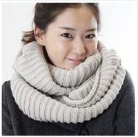 Free Shipping 2013 E010 Korean female winter wool scarves Korean winter warm scarf pullover thicken