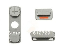200pcs/lot 1 Set 3 Piece Volume Side Silent Mute Switch Power Key Button for iPhone 4S 4GS