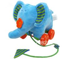 4 pcs/lot-Children drag elephant walking toddler learning to walk swinging bell toys