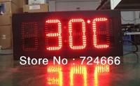 "Sinosky 10"" led clock time date temperature display, led digital clock display outdoor waterproof"