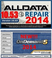 2014 Newest Version Alldata 10.53 Mitchell on demand 2014 Autop Repair Software on 750GB Hard disk with Technical Support