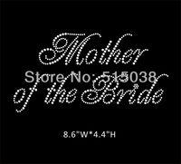 DHL Free Shipping 50pcs\Lot Mother of the Bride hotfix rhinestone heat transfers design