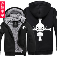 Hoodies Sweatshirt autumn and winter clothes white beard plus velvet thickening female men's clothing cardigan outerwear