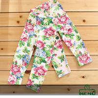Momo-- 2014 new arrivals Kids Girls Leggings 80-100 size, big flowers print, cotton, Elastic waist, 6pcs/lot free shipping