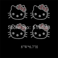 DHL Free Shipping 45pcs\Lot Hello Kitty hotfix rhinestone heat transfers design