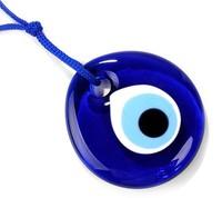 Turkish Murano glass evil eye pendant/ hanging lucky eye handmade ornament