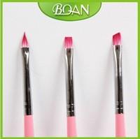 2014 New Design Wood Brush Professional Art Pen Set Nail Brush Kit 3PCS/set Free Shipping