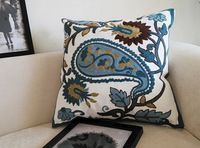 Animal patterns Warm auspicious navy blue Dragon 100% cotton handmade Embroidered home decor cushion covers  pillow cover