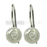 Free shipping!Clear CZ Stone 925 Sterling Silver Hook Earrings 9SE08