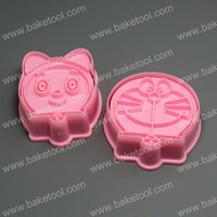 Free shipping,Plastic 2pcs Cats' Head shape cookie cutters set