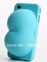 Protective shell Mobile Phone Cases Holders Stands iBoobies for iPhone 4 4s Case bra Chest breast buttocks Booty silicone sleeve
