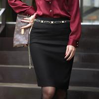 with belt plus size 2014summer Professional women clothing fashion brand style joker bust step slim skirt office women work wear
