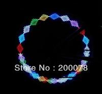 2pc pack RGB LED Bicycle light led bike tail light colorful Spoke Lamp safety alarm flash w/ 7 led 12 artworks