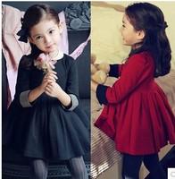 retail wholesale 2014 new baby girls spring autumn princess dress girls cotton dress kids children's long sleeve dress 2-7years